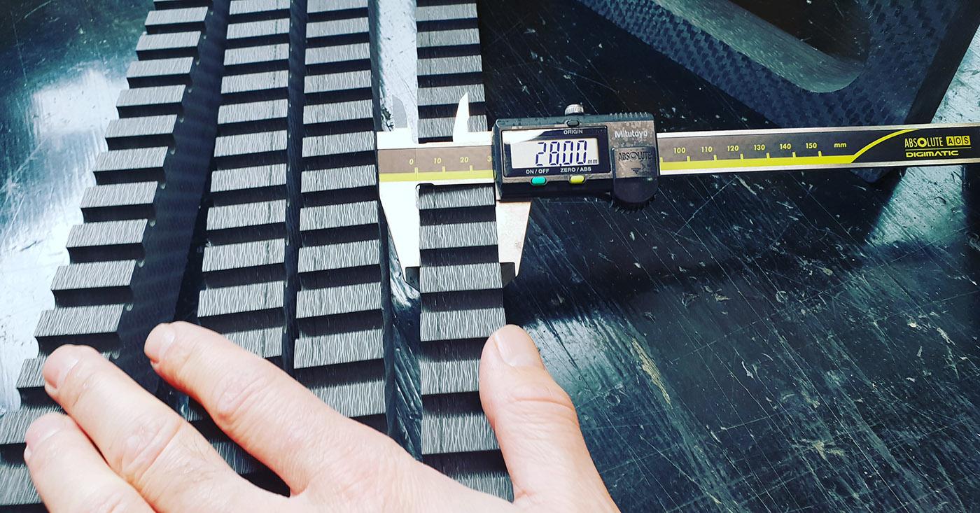 Thick carbon fiber machining